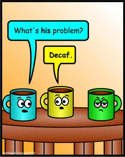 decaf coffee comic