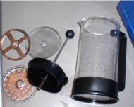 french press disassembled