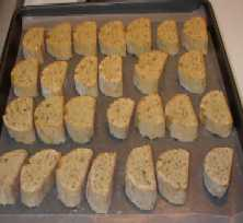 biscotti on tray