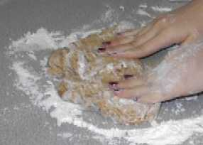 knead with flour