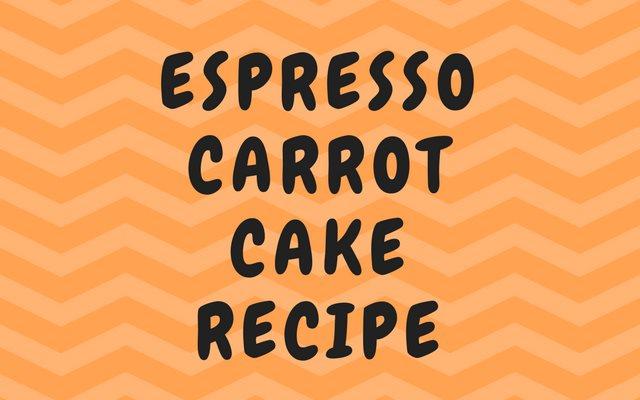 Espresso Carrot Cake Recipe