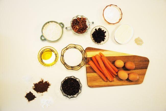 espresso carrot cake setup