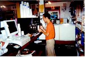Java Shack barista at work