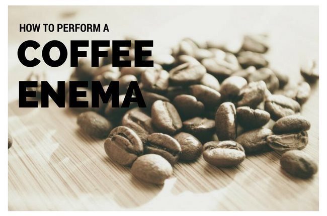 how to Perform a Coffee enema