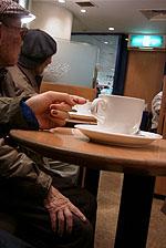 Sitting at Tokyo Cafe