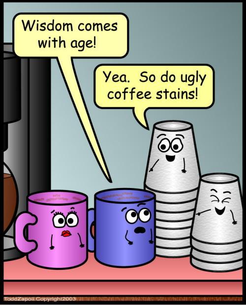 comic coffee stain