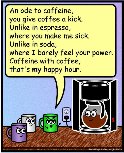 comic ode to caffeine