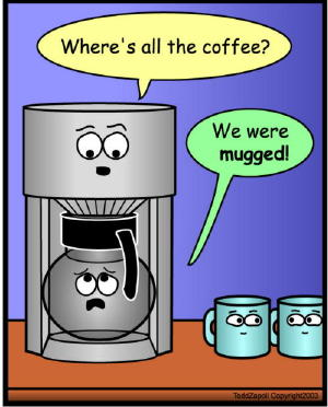 we were mugged