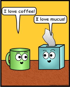 comic love mucus