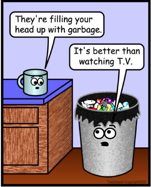 comic watching tv