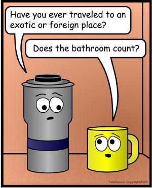 comic bathroom
