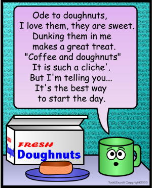 comic doughnuts