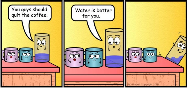 comic water is better