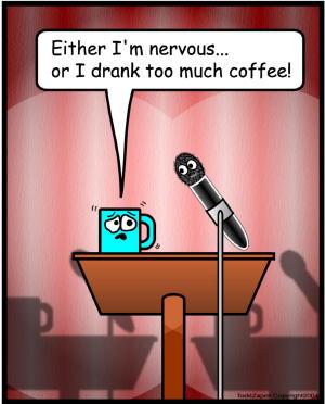 nervous comic