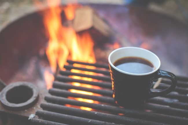 Cowboy Coffee on campfire
