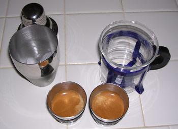 Prepare espresso shots