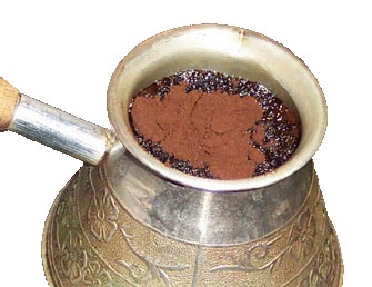 Dry Coffee in Ibrik