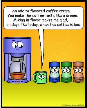 ode to flavored coffee