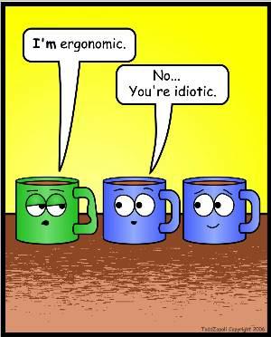 ergonomic mug