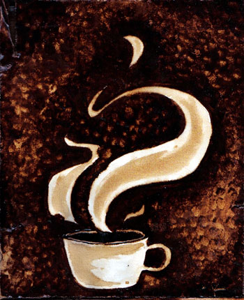 Swirly Cup - Coffee Artwork