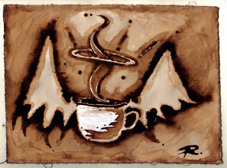 Angelic Aroma - Coffee Artwork