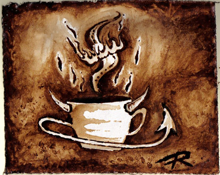 Flame-O-Cup - Coffee Artwork