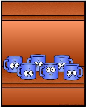 upside down mugs