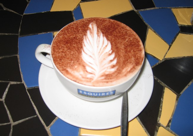 Esquires Coffee - Latte Art Feather
