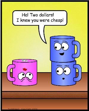 two dollar mug