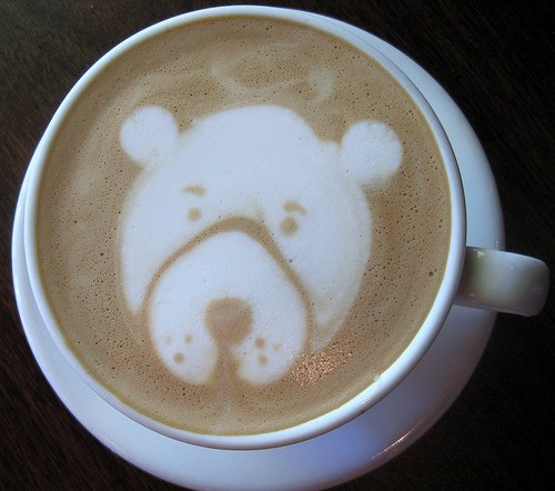 bear latte art
