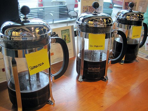 French Press Coffee Tasting