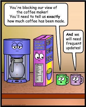 Inanimate Objects Comics #29 - I Need Coffee
