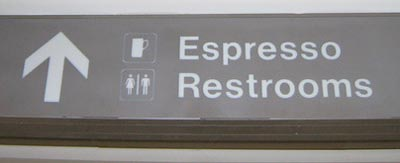 Seattle Airport Espresso Sign