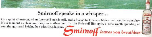 Smirnoff leaves you breathless