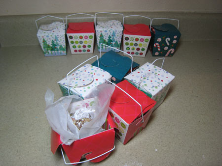 Multiple rum ball gift boxes