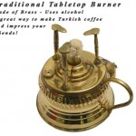 Brewing Turkish Coffee Using a Traditional Tabletop Burner