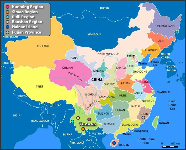 china coffee map