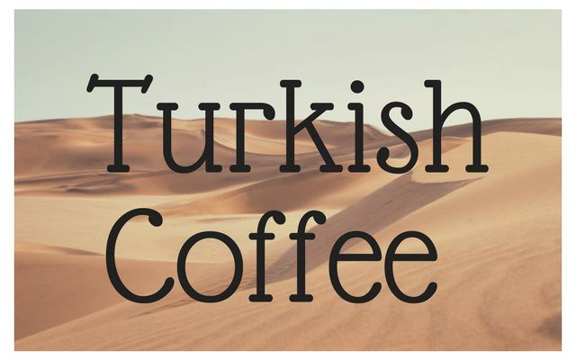 Making Turkish Coffee