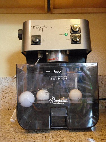 Add Ping Pong Balls to water tank for espresso machine