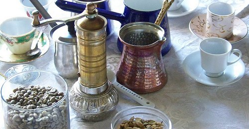 turkish coffee setup gear