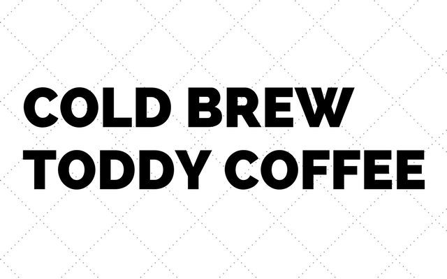 Make Cold Brew Coffee with the Toddy Coffee Maker