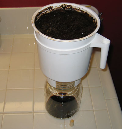 Toddy coffee Finished Brewing