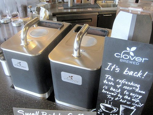 2 Clover Coffee Machines