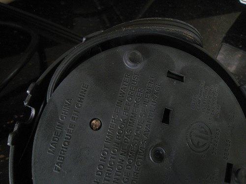 underneath kettle