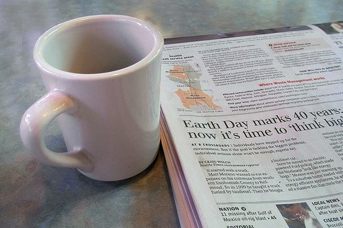 Goodbye to the Morning Coffee and Newspaper Ritual
