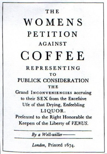 Womens Petition Against Coffee