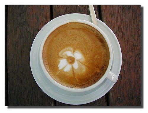 Latte Etching by Ian Balchin