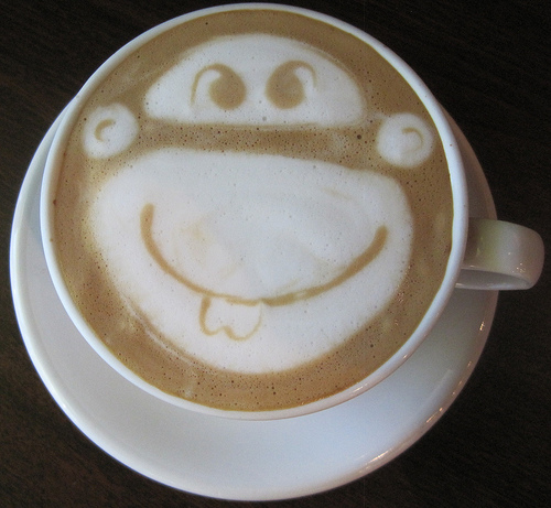 Monkey Latte Art