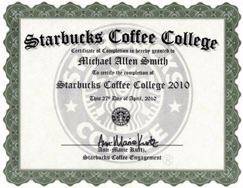 Starbucks Coffee College