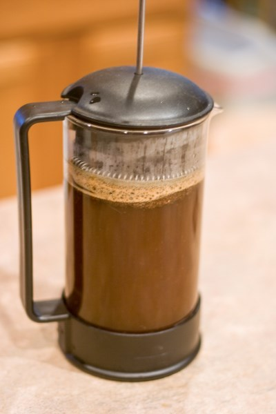 Coffee Steeping for 3 to 4 minutes